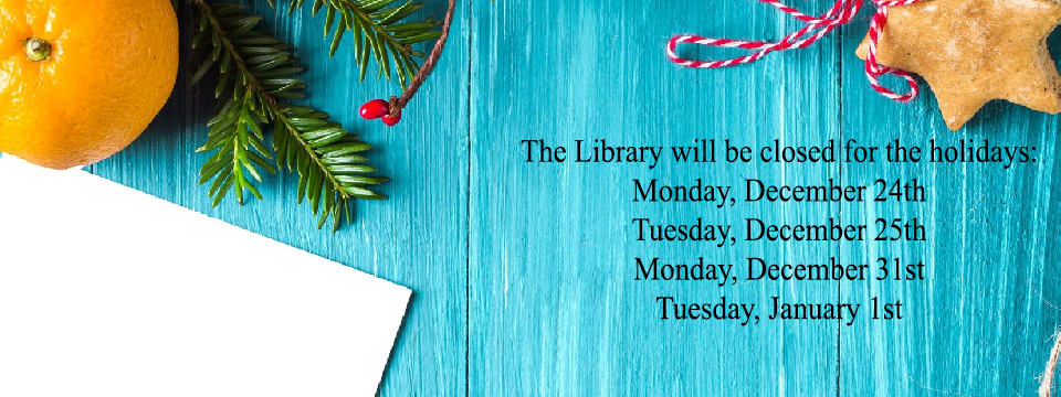 Holiday open house and new director meet & greet. Tuesday, December 4th, 6-8pm, Main Library